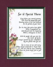 Present Gift Thank You #166 Poem for a Special Nurse 8x10 Poem keepsake