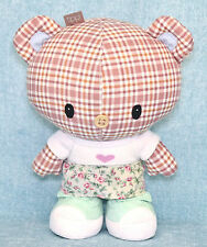 "Hallmark Tippi Town 9"" Plush Checkered Teddy Bear Stuffed Animal Shoes Soft Toy"