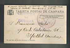 1938 Spain Civil War Postcard Cover to Barcelona Brigada Mixta 145