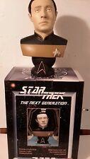 """Star Trek Next Generation Lt Cmdr DATA Cold Cast Porcelain Bust- 8.5"""" Tall"""