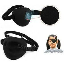 New Soft Medical Use Concave Eye Patch Groove Adjustable Strap Single Eyeshades