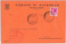 REPUBBLICA - Storia Postale: ANNULLO MUTO EMERGENZA su BUSTA da  ALFIANELLO 1959