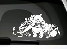 Winnie The Pooh, Piglet, Tigger, Eeyore Group car window/bumper/panel sticker