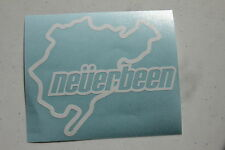 NEVERBEEN Sticker Decal Vinyl JDM Euro nurburgring Funny track outline