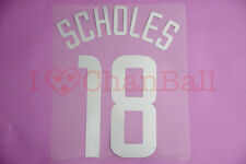 Scholes #18 2002-2003 Manchester United CL 3rd Awaykit Nameset Printing