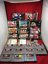 Lot 11 Snes Game Boxed Paperboy 2 Jurassic Park Super Nintendo *FREE SHIPPING*