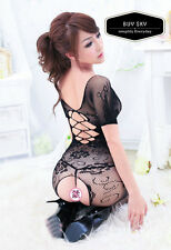 Lingerie Black Open Crotch Fishnet Bodysuit Body Stocking Exclusive Luxury 4U