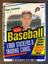1988 FLEER CELLO PACK DON CARMAN (Top) JERRY GLEATON (Back) G7105226