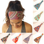 Women Floral Wide Bandana Headband Stretchy Yoga Running Headwrap Lady Hair Band