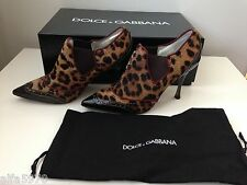 DOLCE & GABBANA LEOPARD PRING WING TIP PUMP, SHOES HEELS - SIZE US 5.5