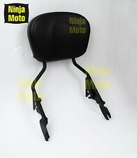 Black Sissy Bar Upright Passenger Backrest for Harley Street Glide 2009-2016
