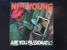 """Neil Young Are You Passionate? Promo Poster Flat 12""""X12"""" Size Mint Condition"""