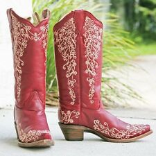WOMENS CORRAL WESTERN COWBOY BOOTS RED EMBRODERY SIZE 8.5 B NWT STYLE A2833