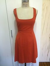 VALENTINO RED BOW BACK DRESS ORANGE SIZE 38 SMALL $595 GORGEOUS