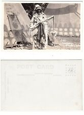 Canada Calgary, Indianer Häuptling,Native Canadian Indian Chief RPPC c1925