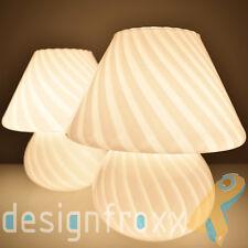 Mid Century Modern Venini Mushroom Table Lamps Studio Art Glass Retro Murano