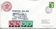 Festiniog RAILWAY Cover 01 1976 FOUR Letter Stamps, Penrhyn