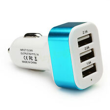 USB Mobile Car Charger Charging Power Adapter With 3 USB Pins