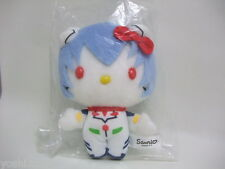 Sanrio Evangelion x Hello Kitty plush doll Rei Ayanami from JAPAN 2014 limited