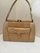 Vintage Lucille de Paris Beige Genuine Alligator?Purse