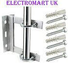 "TV AERIAL WALL MOUNT BRACKET 6"" X 6"" GALVANISED INCLUDING V BOLTS AND FIXINGS"