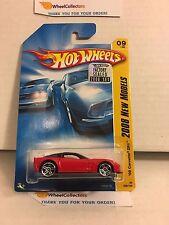 '09 Corvette ZR1 #9 * RED * 2008 Hot Wheels * K17
