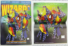 Wizard Magazine #1 ☆ Todd McFarlane ☆ Spider-Man Cover w/ Poster Intact AMAZING