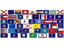 Sheet of 50 U.S. State Flags small (0.5 x1 inch) Stickers - scrapbooking united