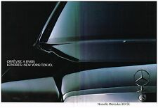 Publicité Advertising 1987 (2 pages) La Nouvelle Mercedes 260 SE