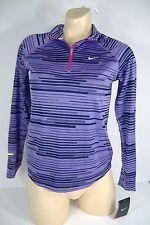 "New Girls Medium Nike ""Dri Fit"" Purple Running Track Jacket $50"