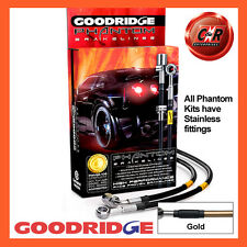 Ford Capri 2.8i 81-86 Goodridge Stainless Gold Brake Hoses SFD0504-3C-GD