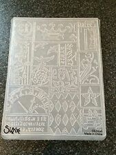 SIZZIX TIM HOLTZ EMBOSSING FOLDER PATCHWORK A2 LARGE NEW FITS CUTTLEBUG WIZARD