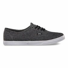 Vans Authentic Lo Pro Washed Herringbone/True White Women's Skate Shoes Size 6