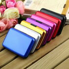 Waterproof Business ID Credit Card Wallet Holder Aluminum Metal Case Box New FO