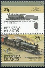 1902 PR Class E2 No.7002 4-4-2 Pennsylvania Railroad Train Stamps (Bernera)