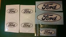 Ford Fiesta mk7.5 ST gel overlay domed badges, white/black 7 set,