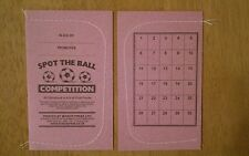 SPOT THE BALL TICKETS - 30 SPACES - 20 TICKETS - IDEAL FOR FUNDRAISING