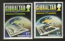 GIBRALTAR MNH 1984 SG504-505 EUROPA: POSTS & TELECOMMUNICATIONS SET OF 2