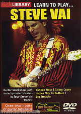 LICK LIBRARY LEARN TO PLAY STEVE VAI Rock Yankee Rose Going Crazy GUITAR DVD 1