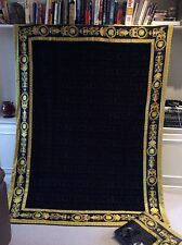 GIANNI VERSACE BLACK & GOLD XL BEACH TOWEL THROW