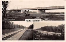 Reichs - Autobahn Frankfurt am Main Mainzerstraße, Brück Foto Karte 1936