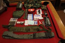 SURVIVAL GEAR KIT WATER FILTER COMPASS KNIFE BELT FIRST AID MILITARY PACK EDC