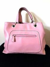 Tommy Hilfiger Purse Womens Pink Pebbled Leather Satchel Bag