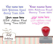 custom name self inking pre ink business family return address rubber stamp 1.5""