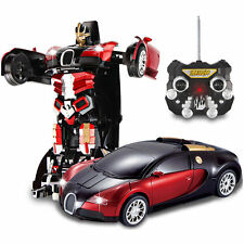 RC Radio Remote Control Transformer Car Deform Robot 2.4Ghz Bugatti Veyron Red