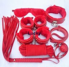 Sex Red Restraint System Kit Cuffs Fluff Bondage Fetish Underbed Sexy Private