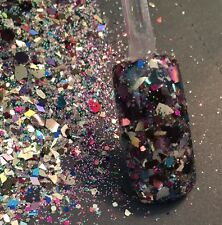 glitter mix nail art acrylic gel    AFTER PARTY