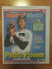 PEDRO MARTINEZ Baseball Weekly 1999 CANCELED w/ Induction Stamp Magazine RED SOX