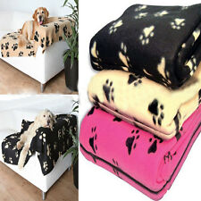 1pcs Pet Dog Cat Nice Soft Warm Fleece Paw Print Puppy & Kitten Blankets Car Bed