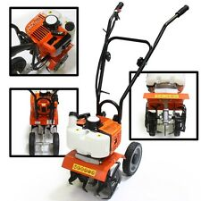 Home Garden Gas Tiller Powered 2 Cycle Stroke Cultivator Walk Behind Grass soil